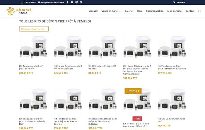Boutique en ligne pour produits de bricolage