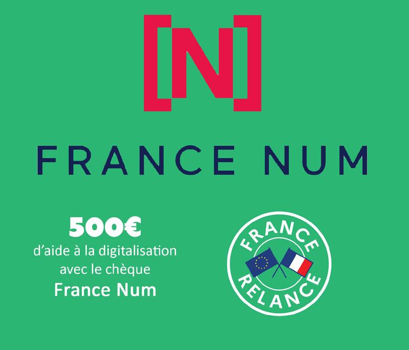 Chèque France Num, subvention de 500 Eur pour le développement numérique des TPE-PME