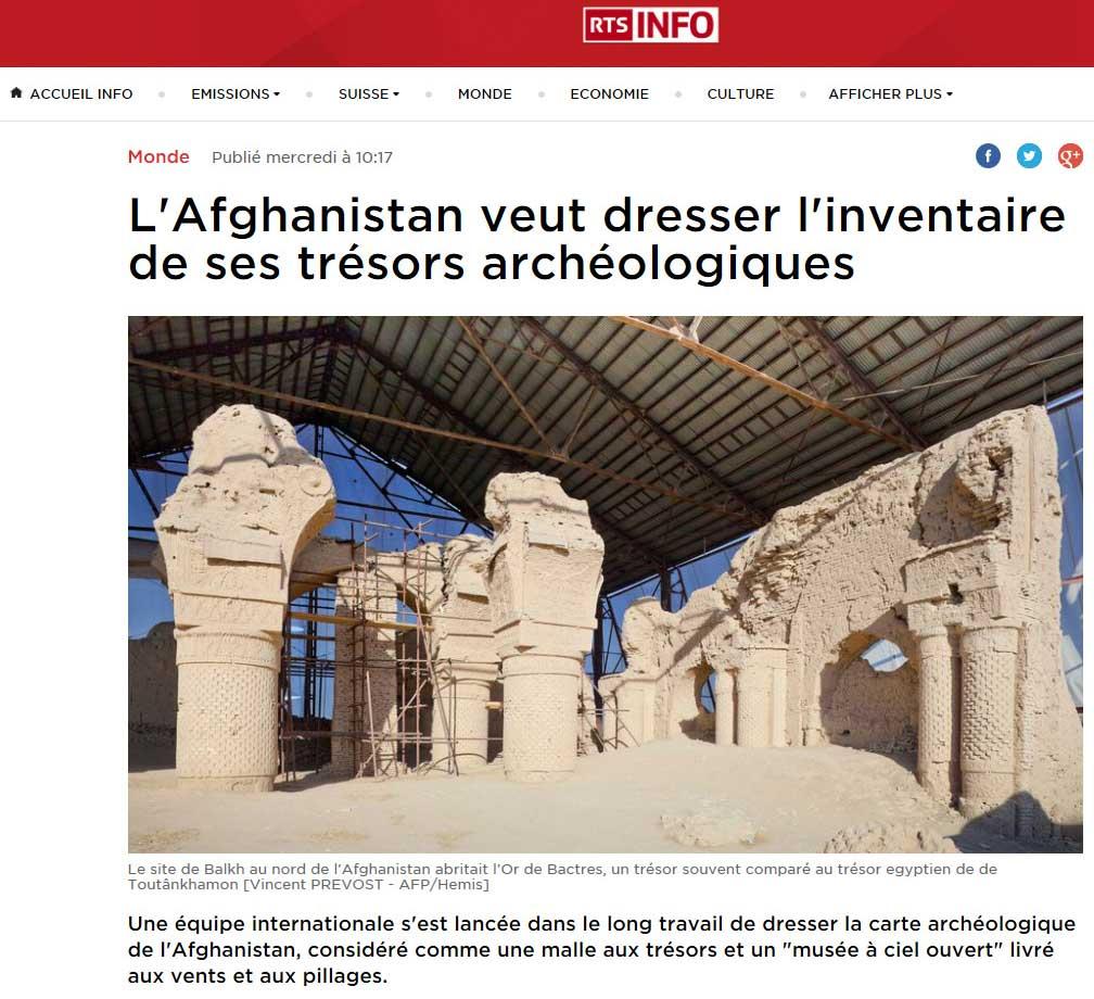 Publication de Vincent Prévost, site archéologieque de Balkh, Afghanistan
