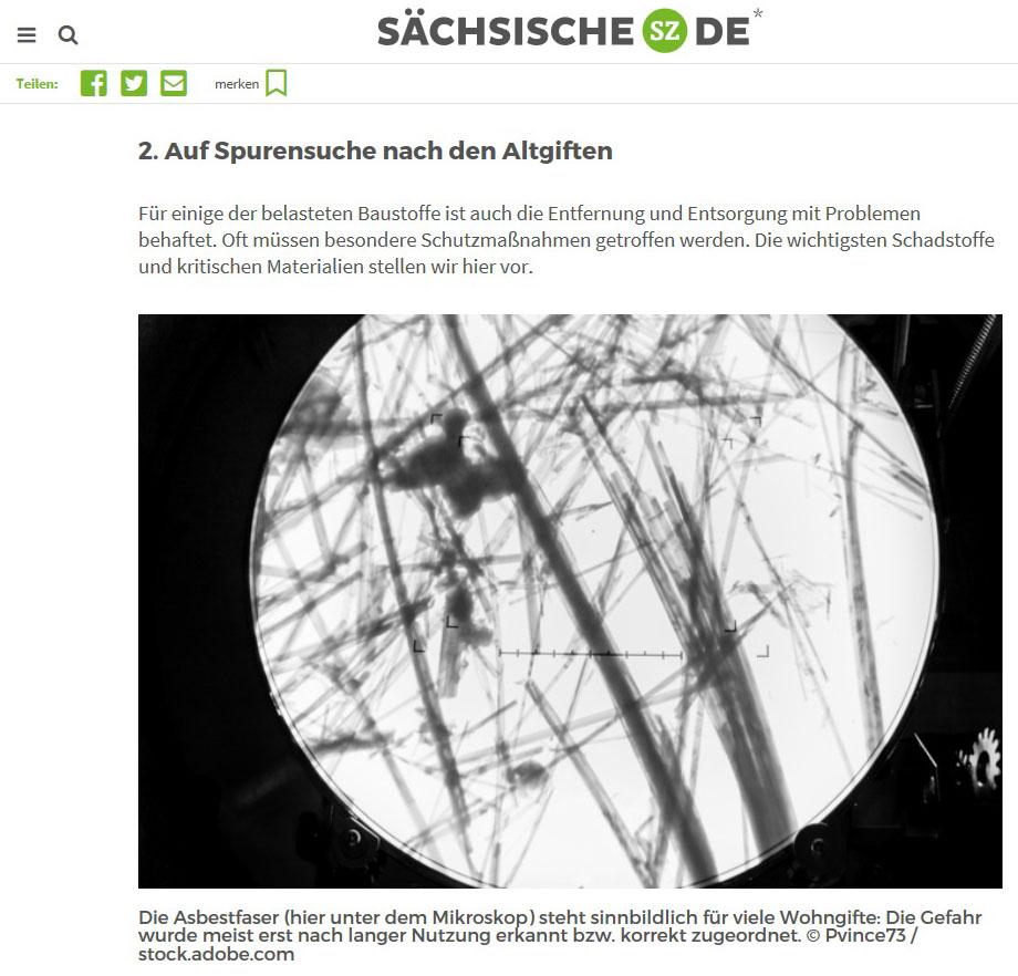 Publication de Vincent Prévost, laboratoire de détection de l'amiante