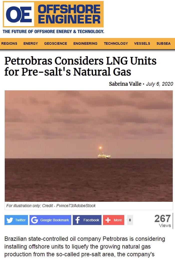 Publication de Vincent Prévost, extraction de gaz en mer, Cameroun