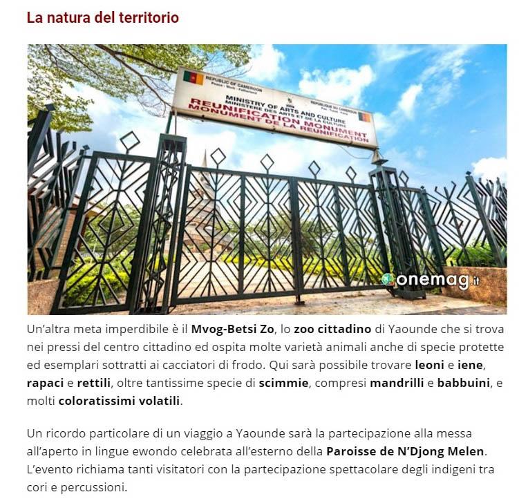 Publication de Vincent Prévost, monument national, Yaounde, cameroun