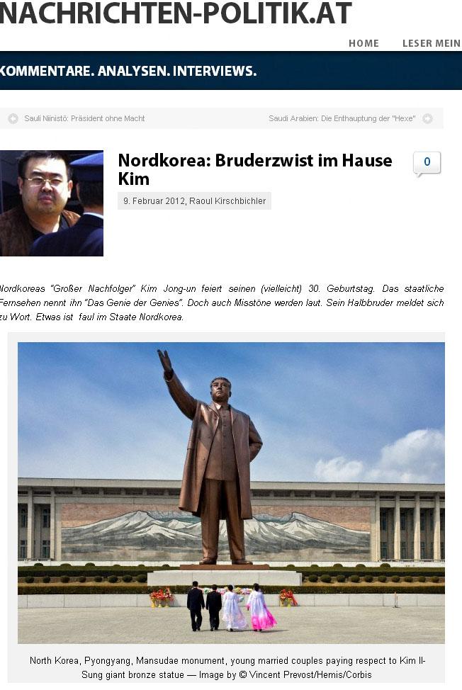Publication de Vincent Prévost, statue géante à la gloire de Kim Il-Sung, Pyongyang, Corée du Nord