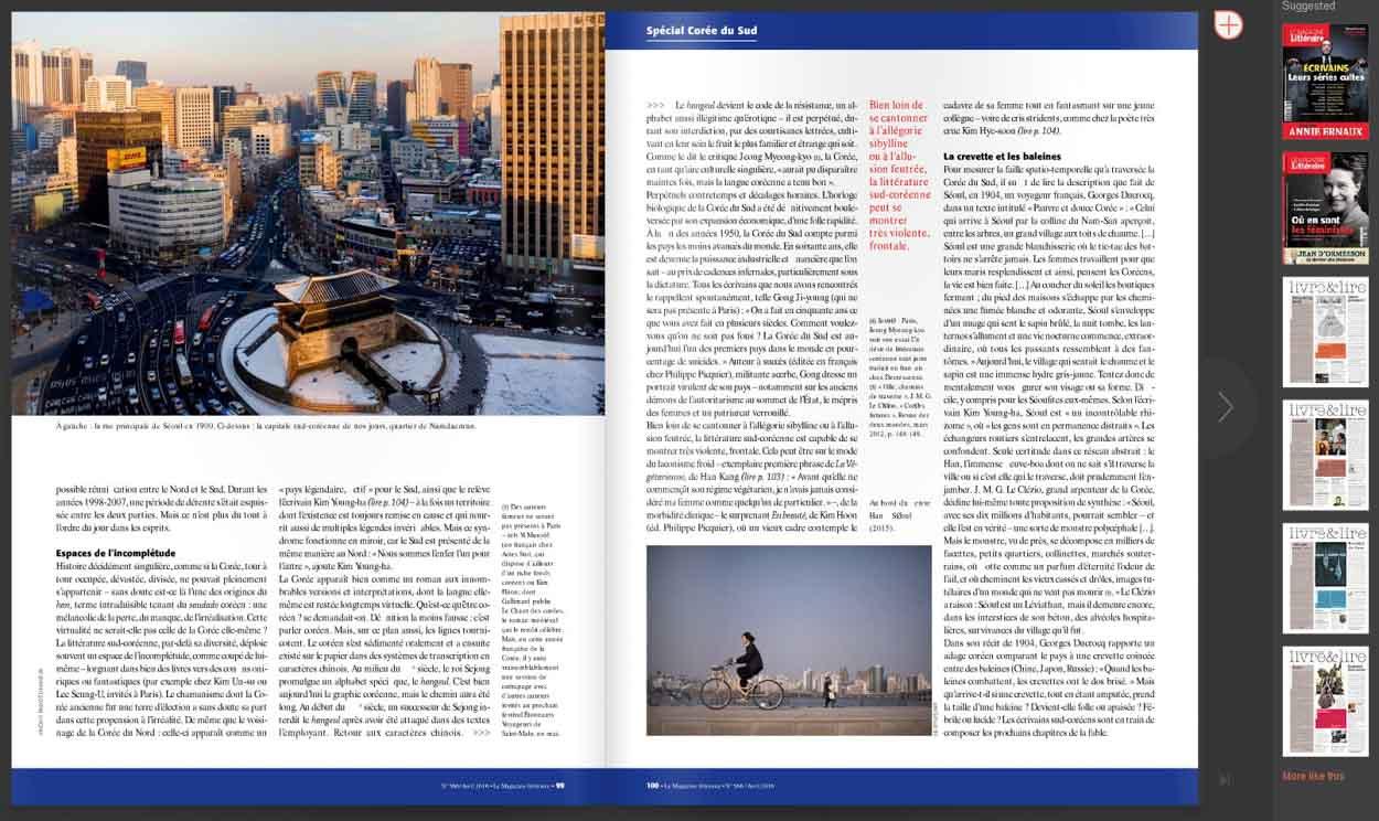 Publication de Vincent Prévost, vue élevée sur Séoul, Corée du Sud