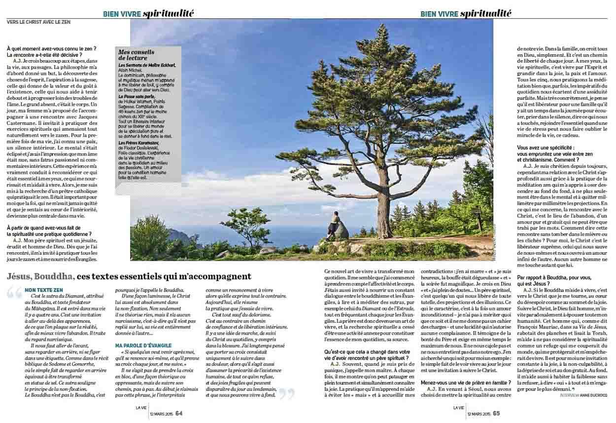 Publication de Vincent Prévost, randonnée spirituelle à Jejudo, Corée du Sud