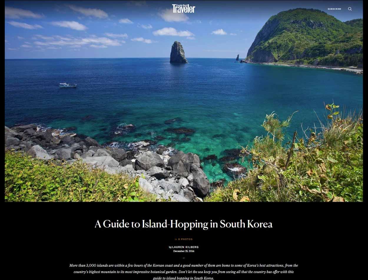 Publication de Vincent Prévost, île paradisiaque, Corée du Sud