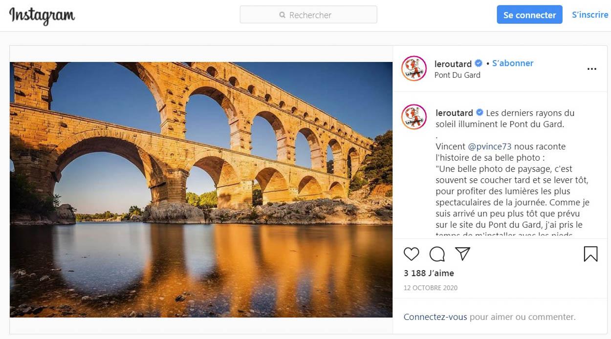 Publication de Vincent Prévost, Pont du Gard, France
