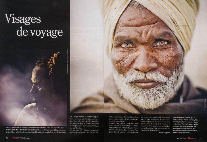Publication de Vincent Prévost, portrait homme Sikh, Inde
