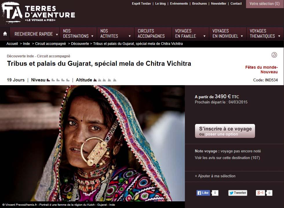 Publication de Vincent Prévost, femme indienne en habits traditionnels, Kutch, Inde