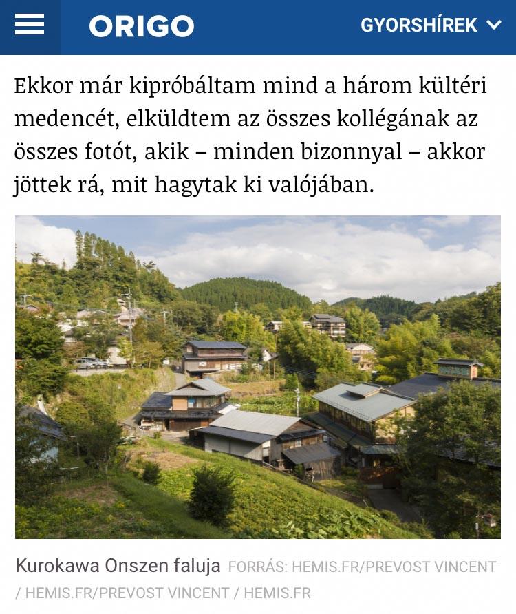Publication de Vincent Prévost, ville thermal de Kurokawa Onsen, Japon