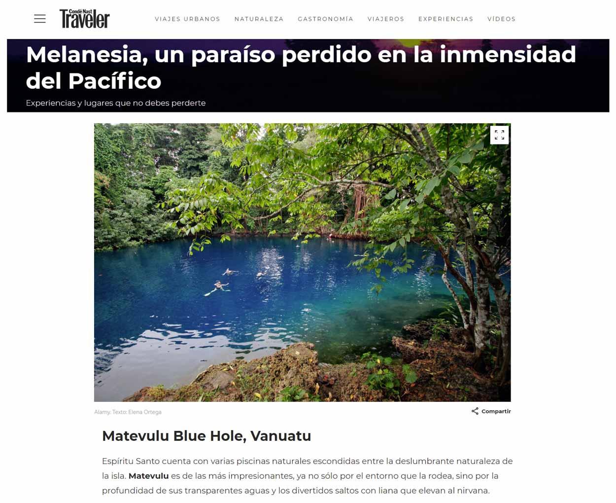 Publication de Vincent Prévost, piscine naturelle dans la jungle, îles Vanuatu
