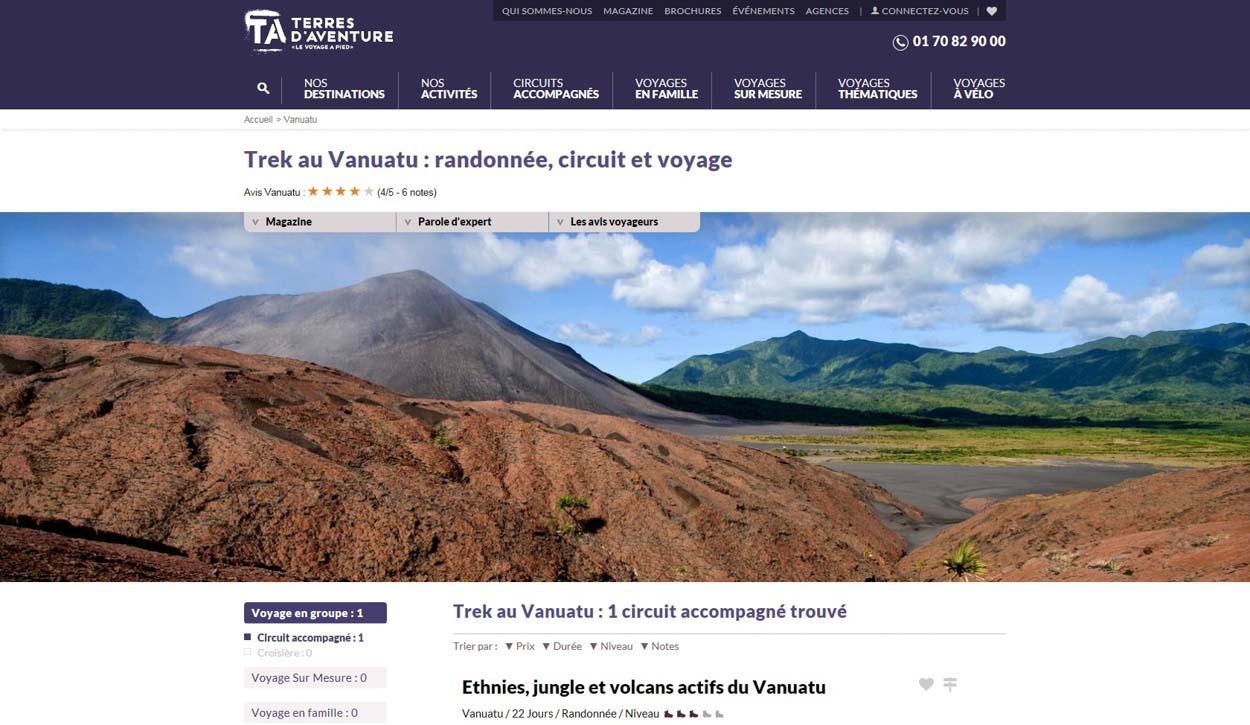 Publication de Vincent Prévost, volcan, îles Vanuatu