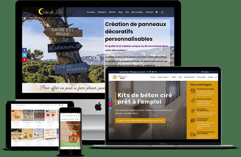Exemples de sites Internet réalisés par BABEL studio