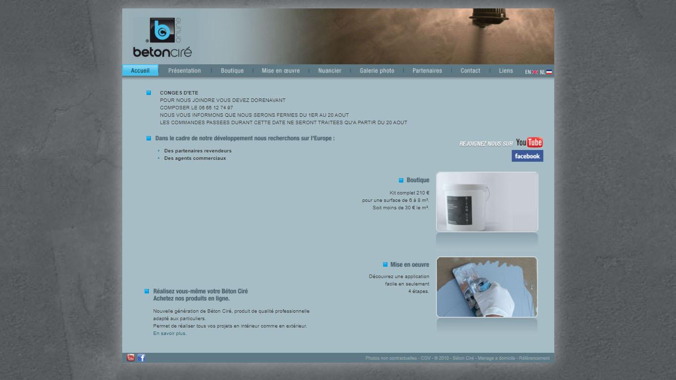 Exemple site professionnel démodé, avant refonte