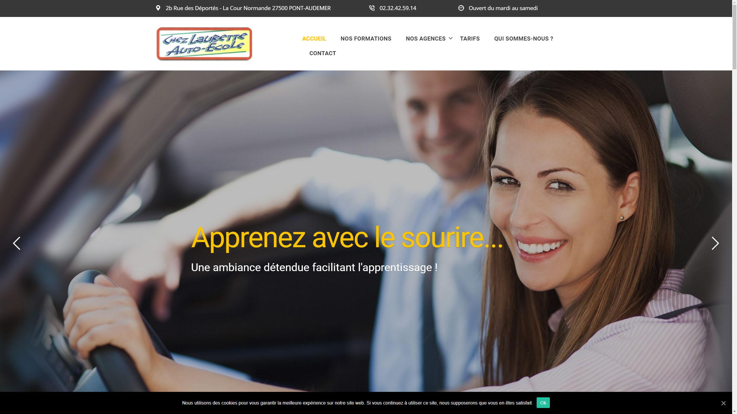 Exemple d'un site Internet professionnel avec des photos aseptisées