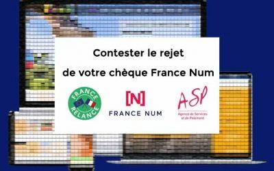 Que faire en cas de rejet de votre demande de chèque numérique France Num de 500€?